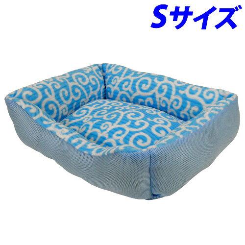 【売切れ御免】ペットプロ アラベスク ベッド S ブルー ペット用品 犬 猫 ベッド ペット