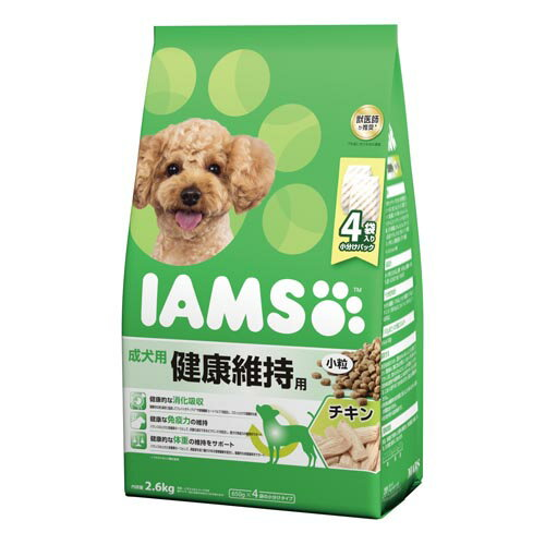 アイムス ドッグフード 成犬用 健康維持用 チキン 小粒 2.6kg ID221