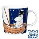 アラビア ムーミンマグ ムーミンパパ ディープブルー マグカップ