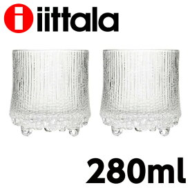 iittala イッタラ Ultima Thule ウルティマツーレ オールドファッション L 280ml グラス クリア 2個セット『送料無料(一部地域除く)』