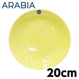 ARABIA アラビア 24h Avec アベック プレート 20cm イエロー