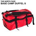THE NORTH FACE ザ・ノースフェイス BASE CAMP DUFFEL S ベースキャンプ ダッフル 50L レッド×ブラック ボストンバッ…