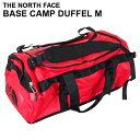 THE NORTH FACE ザ・ノースフェイス BASE CAMP DUFFEL M ベースキャンプ ダッフル 71L レッド×ブラック ボストンバッグ ダッフルバッグ バックパック 【送料無料(一部地域除く)】