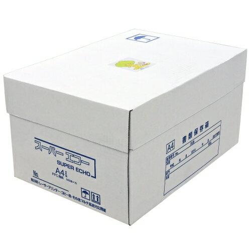 キラット スーパーエコー コピー用紙 マルチ対応 A4サイズ 1箱 5000枚 (500枚×10冊)【送料無料(一部地域除く)】