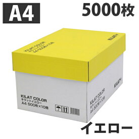 カラーコピー用紙 イエロー A4 5000枚【送料無料(一部地域除く)】