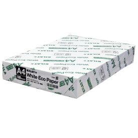 コピー用紙 ホワイトエコペーパー A4サイズ 1冊 500枚 高白色 OA用紙 印刷用紙 用紙