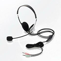 エレコムHS-HP22SVヘッドセットマイクロフォン両耳オーバーヘッド1.8m