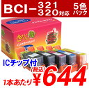 【ポイント10倍】BCI-321+320/5MP CANON リサイクルインク(互換性)〔BCI321 BCI320 セット〕