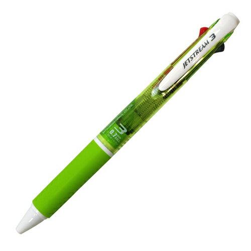 三菱鉛筆 ジェットストリーム ノック式 3色油性ボールペン(黒・赤・青インク) 0.7mm 緑 SXE3-400-07