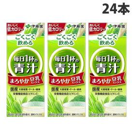 伊藤園 毎日一杯の青汁 まろやか豆乳ミックス 200ml×24本