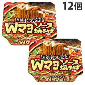 日清食品 日清デカうま Wマヨソース焼そば 153g×12個 やきそば カップ麺 インスタント麺 即席麺 麺類 カップ焼きそば インスタント焼きそば