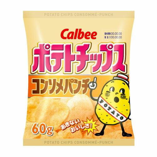 カルビー ポテトチップスコンソメパンチ 1袋