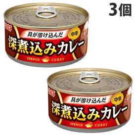 いなば食品 煮込みカレー 中辛 165g×3缶