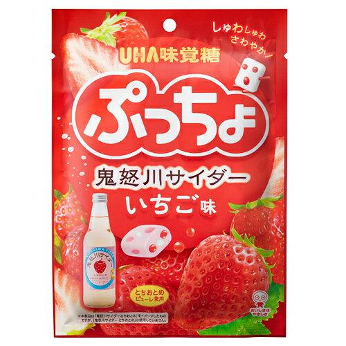 【5月7日15時まで期間限定価格】UHA味覚糖 ソフトキャンディ ぷっちょ袋 鬼怒川サイダーいちご味 98g