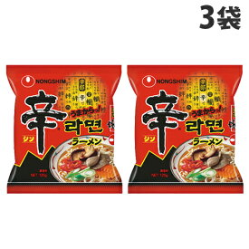 農心ジャパン 辛ラーメン袋麺 120g×3袋