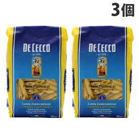 ディチェコ No.41 ペンネ・リガーテ ショートパスタ 500g×3袋 DE CECCO マカロニ
