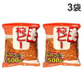 カネタ・ツーワン 大入り柿ピー チャック付 500g×3袋