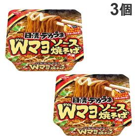 日清食品 日清デカうま Wマヨソース焼そば 153g×3個