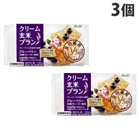 アサヒ飲料 クリーム玄米ブラン ブルーベリー 72g×3個