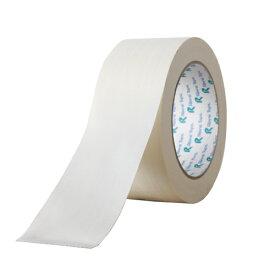 リンレイテープ カラー布粘着テープ 50mm×25m 1巻 白 #384