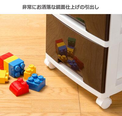 鏡面仕上げ日本製大容量リビングチェストLife3ライフ33段/Life5ライフ55段キャスター付き