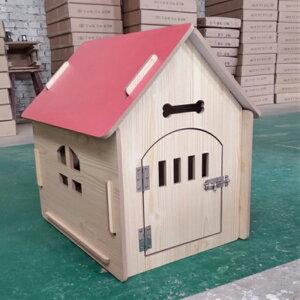 大きい 犬小屋 木製 犬舎 北欧風 ドア付 おしゃれ DIY 組立 ワンちゃん ハウス ペット用 小屋 屋外 中型犬 小型犬 Lサイズ 犬 落ち着く ドッグハウス ペットハウス カッコいい ブラウン ポップ