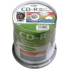 【あす楽対応_関東】【送料500円】HIDISKHDCR80GP100データ用CD-R 52倍速 100枚入[HDCR80GP100]