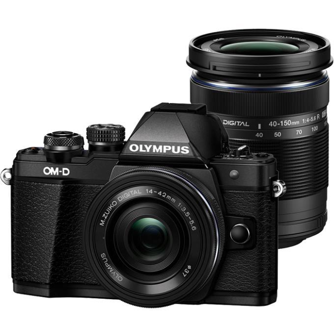 【あす楽対応_関東】【送料無料】OLYMPUS(オリンパス)OM-D E-M10 Mark II EZダブルズームキット ブラック1605万画素 デジタル一眼カメラ OM-D EZダブルズームキット
