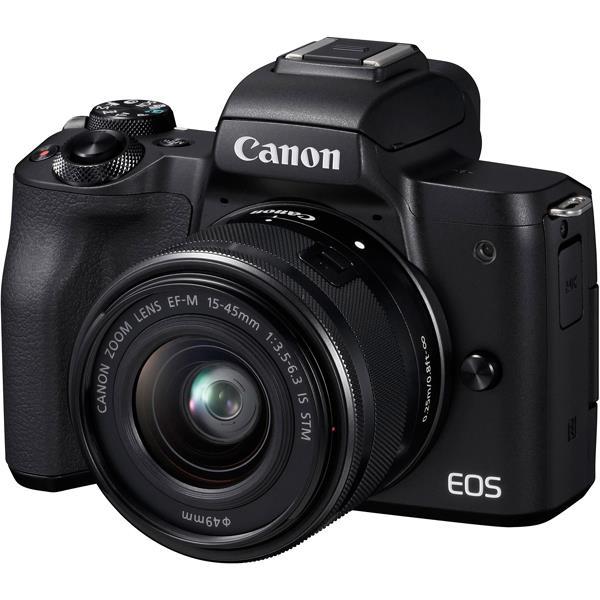 【 在庫処分!】【 国内正規ルート品 】【送料無料】CANON(キヤノン)EOS Kiss M EF-M15-45 IS STM レンズキット ブラック2410万画素 デジタル一眼カメラ