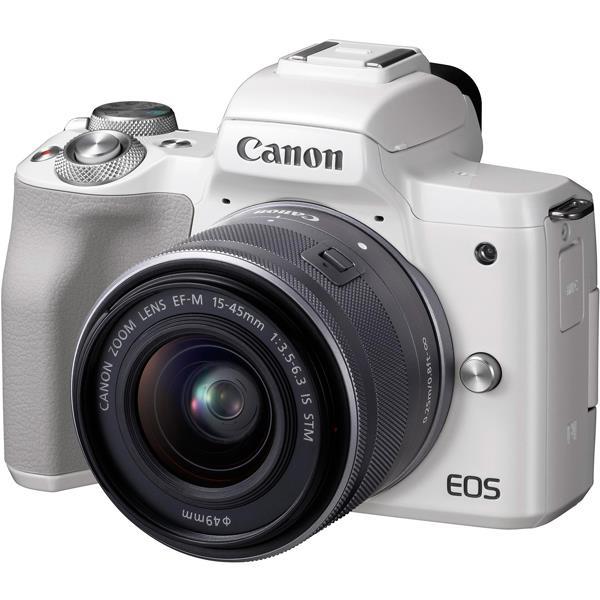 【 在庫処分!】【 国内正規ルート品 】【送料無料】CANON(キヤノン)EOS Kiss M EF-M15-45 IS STM レンズキット ホワイト2410万画素 デジタル一眼カメラ