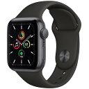 【あす楽対応_関東】 【国内正規品】APPLE(アップル)Apple Watch SE GPSモデル 40mm MYDP2J/Aスペースグレイアルミ…