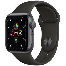 【あす楽対応_関東】 【国内正規品】APPLE(アップル)Apple Watch SE GPSモデル 40mm MYDP2J/Aスペースグレイアルミニウムケースとブラックスポーツバンド[4549995162639]