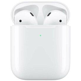 【あす楽関東_対応】【国内正規品】APPLE(アップル)AirPods with Wireless Charging Case MRXJ2J/Aフルワイヤレスブルートゥースイヤホン 第2世代 エアポッズ[4549995054170]