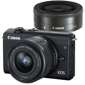 CANON(キヤノン)EOS M200 ダブルレンズキット ブラック2410万画素 ミラーレスカメラ【あす楽対応_関東】【送料無料】