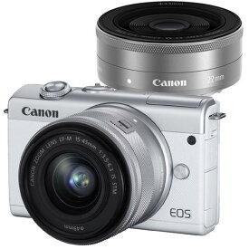 CANON(キヤノン)EOS M200 ダブルレンズキット ホワイト[4549292143010]2410万画素 ミラーレスカメラ【あす楽対応_関東】【送料無料】