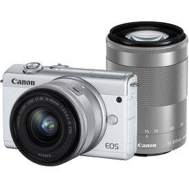 CANON(キヤノン)EOS M200 ダブルズームキット ホワイト[4549292142433]2410万画素 ミラーレスカメラ【あす楽対応_関東】【送料無料】