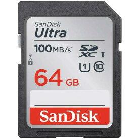 SanDisk(サンディスク)SDSDUNR-064G-GN6IN(海外パッケージ)ウルトラ SDXC UHS-I メモリーカード 64GB(UHS-I対応・最大100MB/s)【あす楽対応_関東】【メール便250円_あす楽対象外】