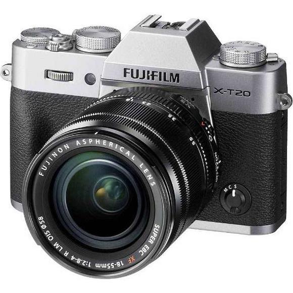 FUJIFILM(富士フイルム)X-T20 レンズキット シルバー2430万画素 デジタル一眼カメラ[XT20レンズキットシルバー]【あす楽関東_対応】【送料無料】