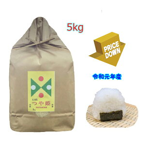 【送料無料】山形県産特別栽培米特A つや姫5kg【令和元年2019年産】