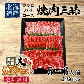【生活応援 大特価】 送料無料 北海道産 贅沢焼き肉 バーベキュー、約5~6人前 約1kg お試し 食品 グルメ 訳あり(わけあり/訳アリ)ではございません!神戸牛 松坂牛 好きにもどうぞ! お取り寄せ グルメ 食品