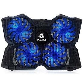 KLIM ノートパソコン 冷却パッド ノートPCクーラー 冷却台 LED搭載 11〜19インチ型 Wind