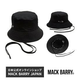 BTS着用ブランド 韓流アイドル着用で話題のキャップブランド MACK BARRY MCBRY STRAP BUCKET HAT BLACK 国内正規品 マクバリー ユニセックス ハット バケットハット 帽子 メンズ BTS 防弾少年団 ジミン men's レディース lady's 国内正規品 マクバリー