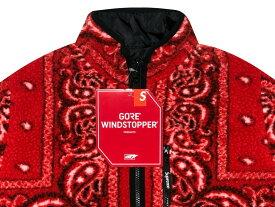 SUPREME シュプリーム 19AW 新品 赤 Reversible Bandana Fleece Jacket リバーシブル バンダナ フリース ジャケット RED モコモコ 送料無料
