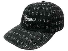 SUPREME シュプリーム 20SS 新品 黒 Jacquard Logos Denim 6-Panel cap ギャガードロゴ デニム 6パネル キャップ BLACK