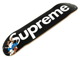 SUPREME シュプリーム 20AW 新品 黒 Smurfs Skateboard スマーフ ボックスロゴ スケートボード スケボー デッキ ブラック BLACK 送料無料