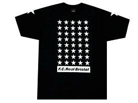 SOPHNET. ソフ F.C.Real Bristol エフシーレアルブリストル 19AW 新品 黒 42 STARS TEE エンブレム 半袖 スター Tシャツ F.C.R.B ブラック BLACK