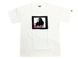 A BATHING APE × futura ア ベイシング エイプ ヒューチュラ コラボ 新品 白 半袖 プリント Tシャツ 復刻 BAPE WHITE