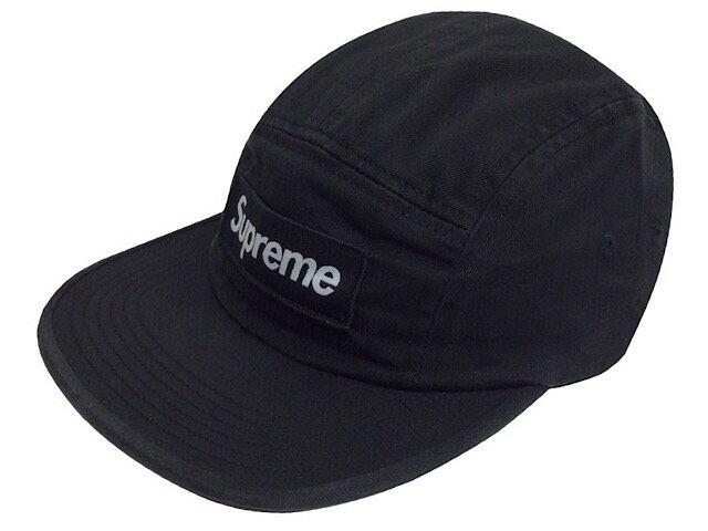 SUPREME シュプリーム 18AW 新品 黒 Washed Chino Twill Camp Cap キャンプ キャップ BLACK ブラック ボックスロゴ