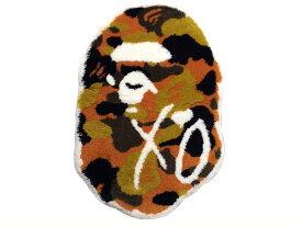 A BATHING APE ア ベイシング エイプ XO エックスオー コラボ 18SS 新品 ラグマット RUG MAT ORANGE オレンジ CAMO 迷彩 The Weeknd BAPE HEAD 大猿