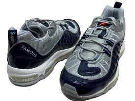 Supreme シュプリーム Nike Air Max 98 ナイキ コラボ 16SS 新品 紺銀 ナイキ エア マックス 98 obsdn/obsdn-rflct slvr-white 844694-400 ネイビー シルバー 送料無料
